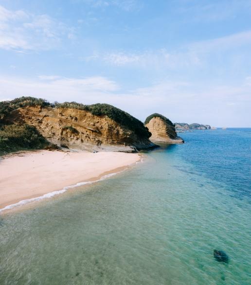 One of many secluded beaches on Tanegashima Island, Kagoshima, Japan