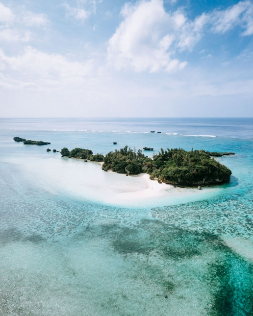 Secluded tropical island, Okinawa, Japan