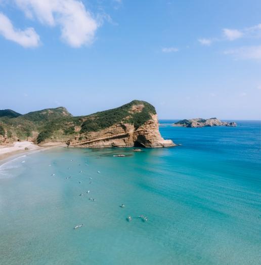 Clear blue subtropical water of Tanegashima Island, Kagoshima, Japan