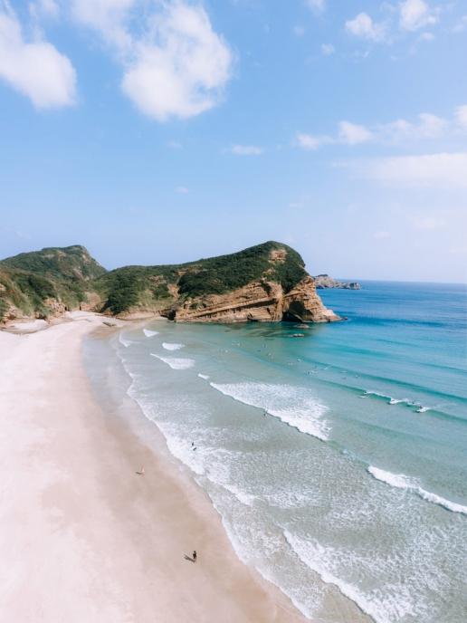 Famous surf beach of Tanegashima Island, Kagoshima, Japan