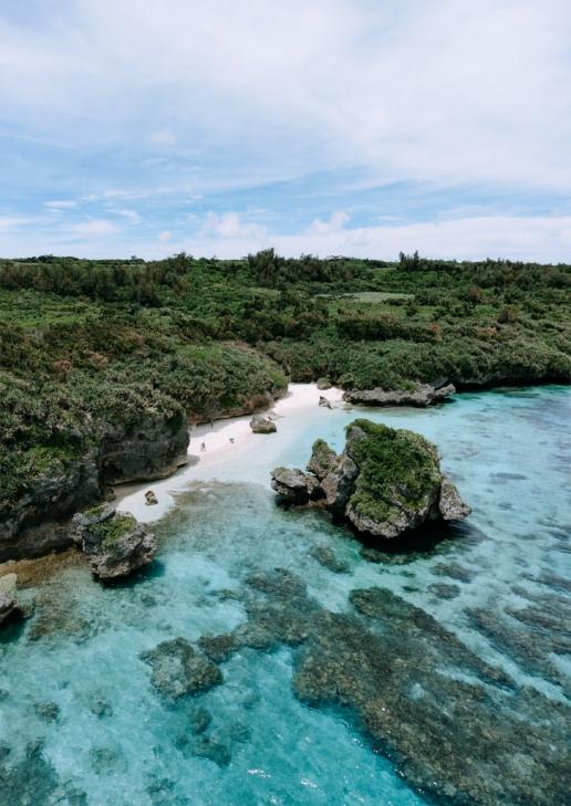 Secluded beach, Irabu Island of the Miyako Islands, Okinawa, Japan