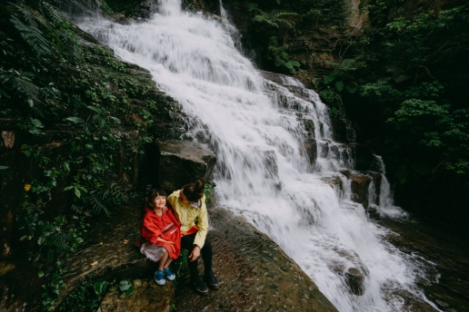 Made it to the top of jungle waterfall on Iriomote, Geta Falls, Okinawa, Japan