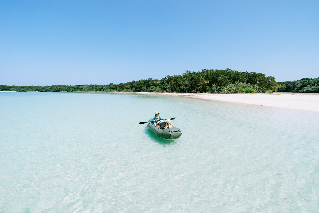 Kayaking in Japan's tropical lagoon, Ishigaki Island, Okinawa