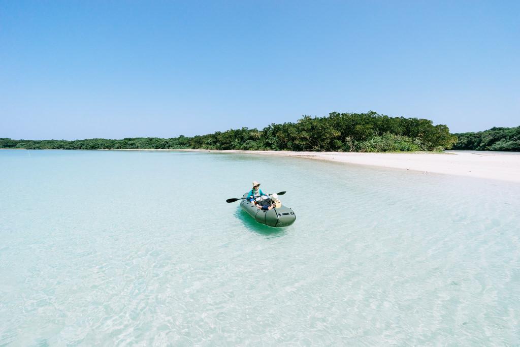 Kayaking in Japan's tropical lagoon, Ishigaki Island, Okinawa