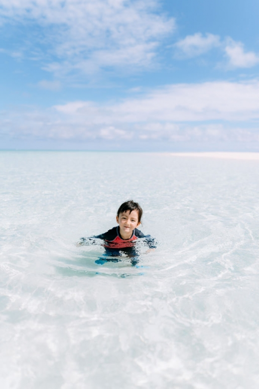 Crystal clear tropical water of southern Japan, Kume Island, Okinawa