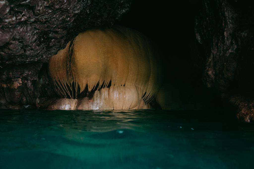 Boraga sea cave adventure, Miyako-jima Island, Okinawa, Japan