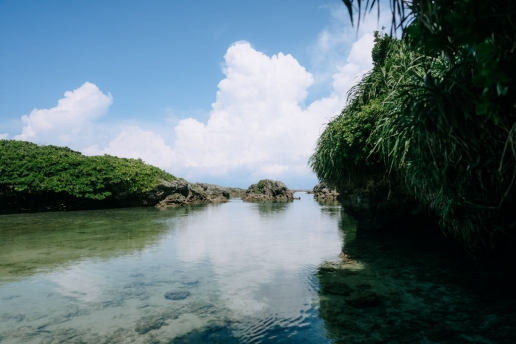 One of many lagoons, Kikaijima, Amami Islands, Kagoshima, Japan