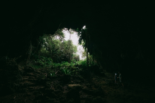One of many limestone caves on Miyako Island, Japan