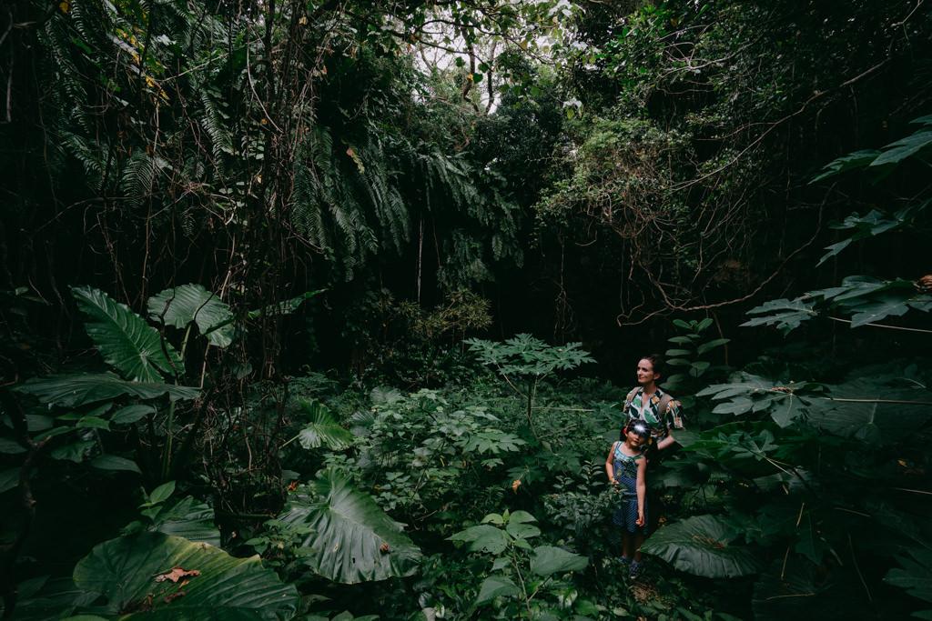 Hiking to one of many jungle caves on Miyako Island, Okinawa, Japan