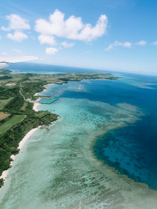 Fringing coral reef of Japan, Miyakojima Island, Okinawa