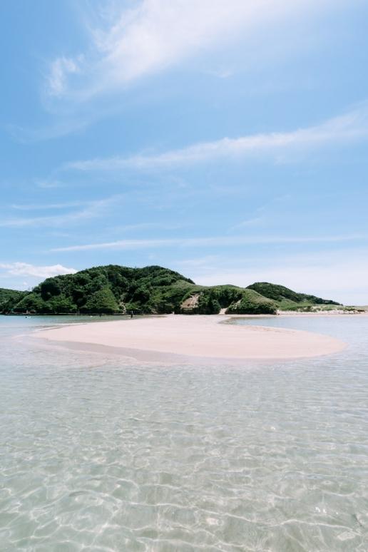 Idyllic beach, Tatsunoshima, Iki Island, Nagasaki, Japan
