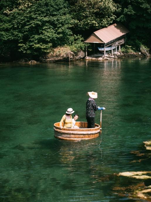 Traditional Tarai-bune (tub boat), Sado Island, Niigata, Japan
