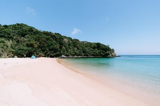 Beautiful secluded beach of Iki Island, Nagasaki, Japan