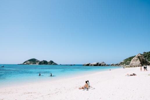 Aharen Beach in March, Tokashiki Island, Okinawa, Japan