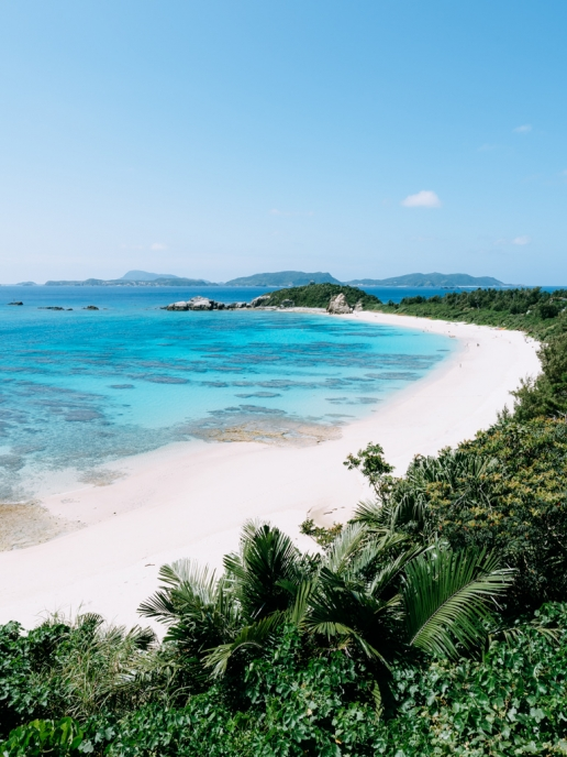 Tropical paradise beach on Tokashiki Island of Kerama Islands, Okinawa, Japan