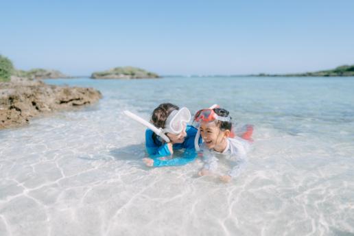 Off-the-beach snorkeling, Kikaijima, Amami Islands, Kagoshima, Japan