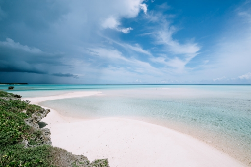 Idyllic tropical beach, Miyako Island, Okinawa, Japan