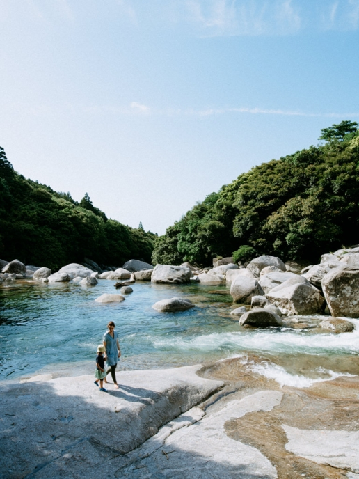 Yoggo Valley with nature's swimming pool, Yakushima, Japan