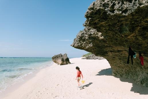 Okinawa winter beach, Sesoko Island, Japan