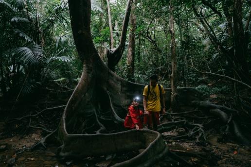 Iriomote jungle family hiking, Okinawa, Japan