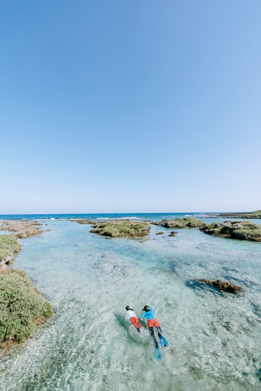 Lagoon snorkeling, Kikaijima, Amami Islands, Kagoshima, Japan