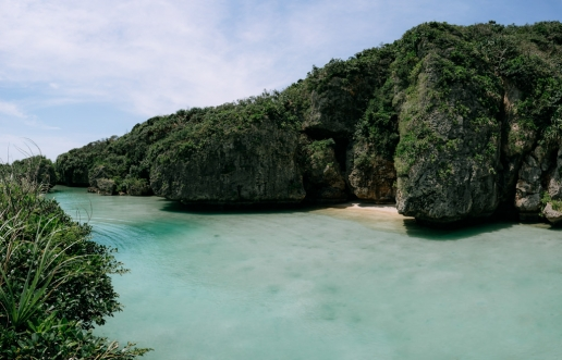 Tropical lagoon, Miyako Islands, Okinawa, Japan
