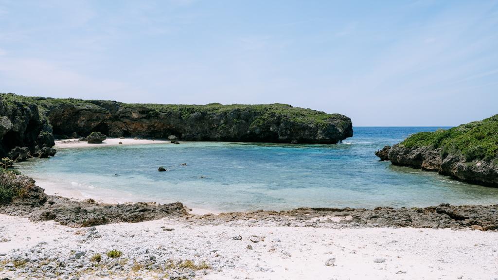 Secluded tropical beach, Shimoji Island of Miyako Islands, Okinawa, Japan