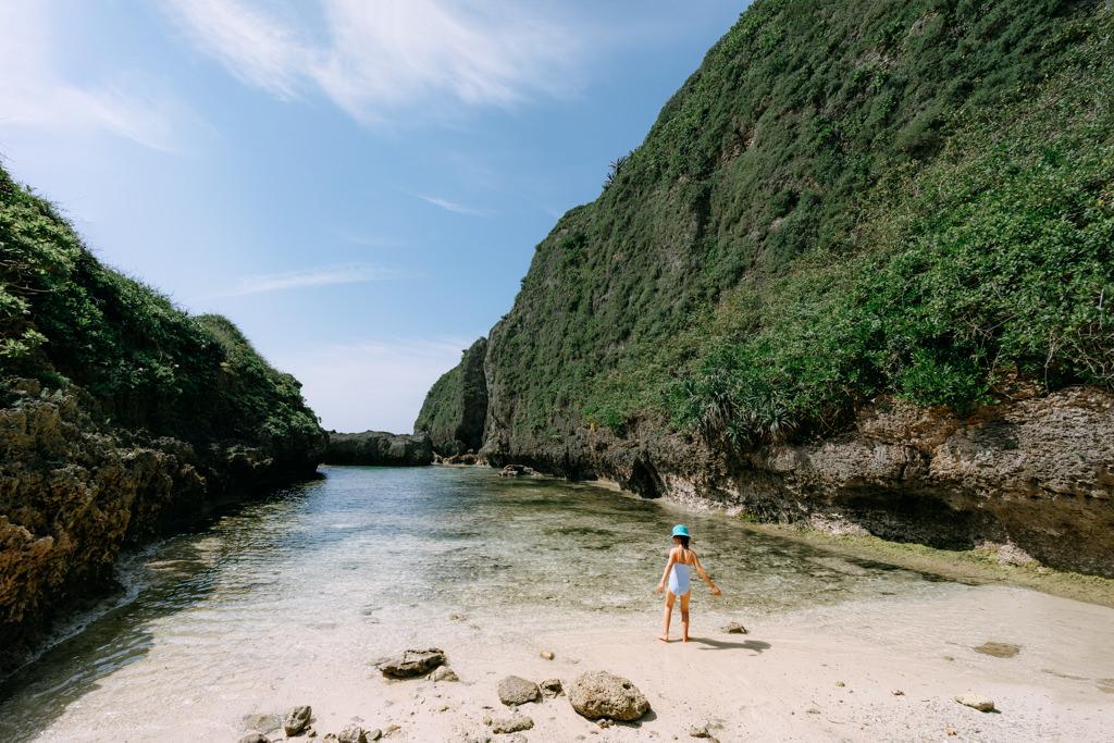 Secluded tropical beach on Miyako Island, Okinawa, Japan