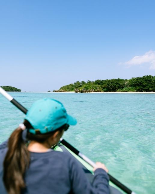 Lagoon kayaking around Ishigaki Island, Tropical Japan