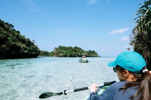 Kayaking in Japan's tropical lagoon, Ishigaki, Yaeyama Islands