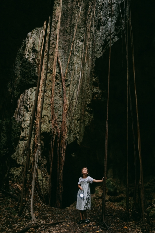 Limestone cave, Irabu Island, Miyakojima, Okinawa, Japan
