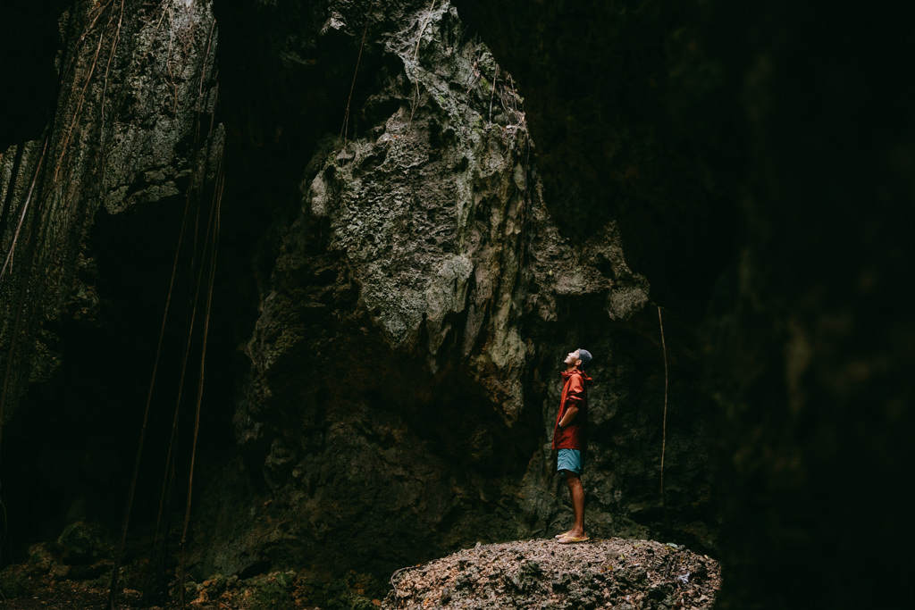 Limestone cave, Irabu Island of the Miyako Islands, Okinawa, Japan