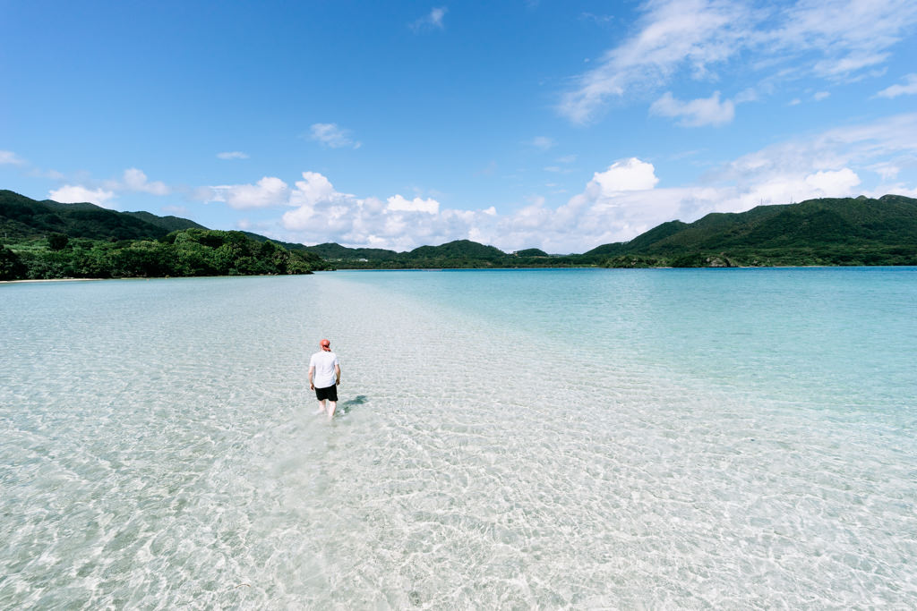 One of many deserted tropical beaches of Ishigaki Island, Okinawa, Japan
