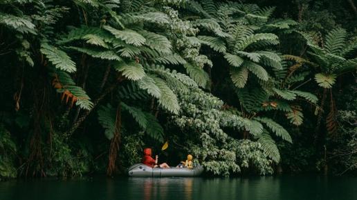 Rainforest river packrafting, Okinawa Main Island, Japan