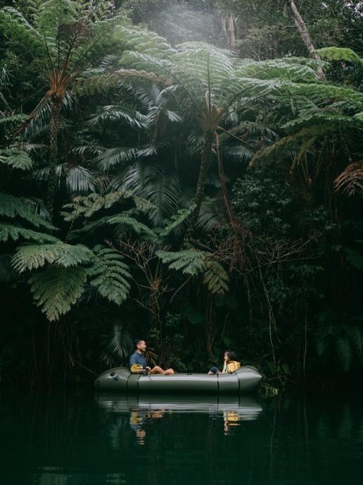 Jungle river packrafting, Okinawa Main Island, Japan