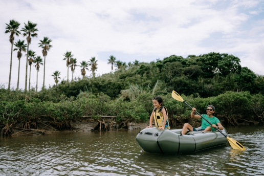 Mangrove river packrafting, Tanegashima Island, Kagoshima, Japan