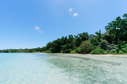 Deserted tropical beach of southern Japan, Ishigaki Island, Okinawa