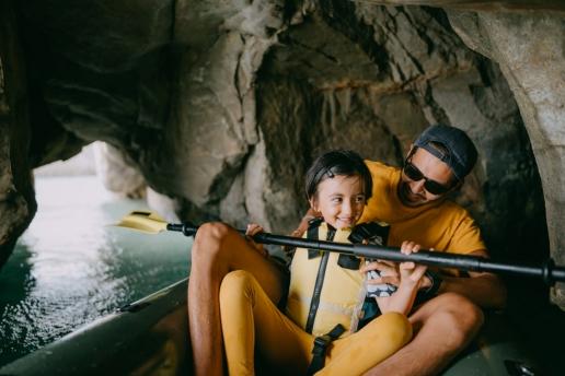 Cave kayaking, Tanegashima Island, Kagoshima, Japan