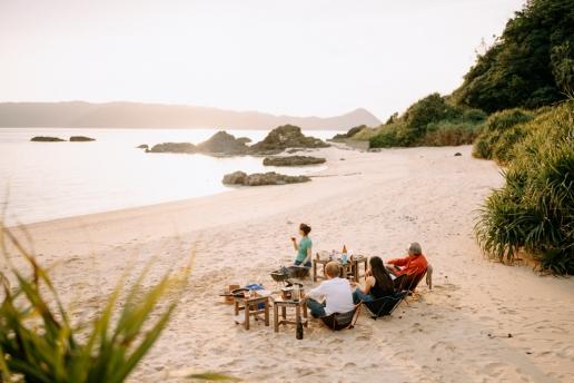 Beach BBQ on Amami Oshima Island, Kagoshima, Japan