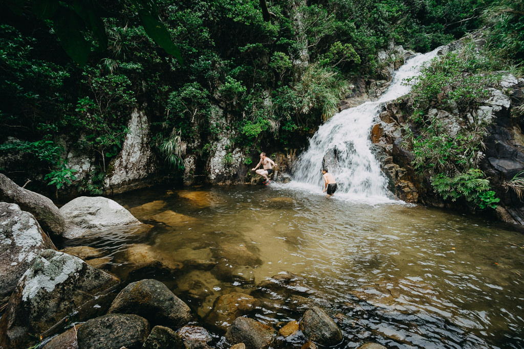 Jungle waterfall on Ishigaki Island, Okinawa, Japan