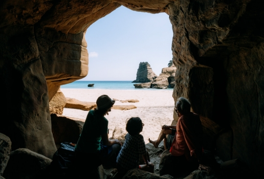 One of many beach caves on Tanegashima Island, Kagoshima, Japan