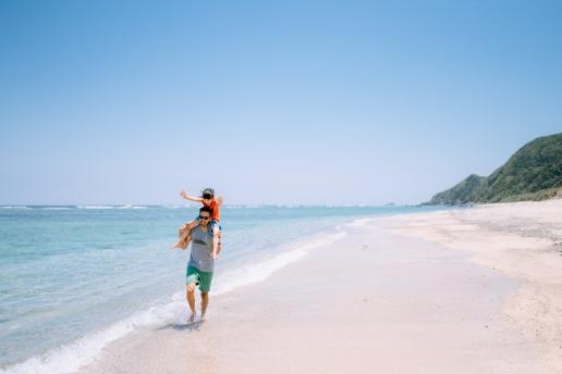 Secluded idyllic beach, Amami Oshima Island, Kagoshima, Japan