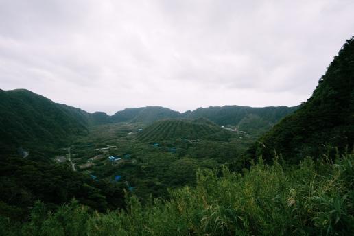 Double caldera island of Tokyo, Aogashima of Izu Islands, Japan