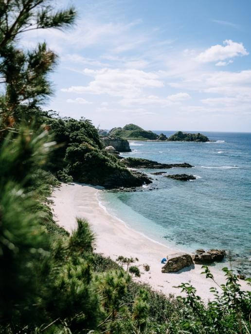 One of many deserted beaches of Okinawa, Japan