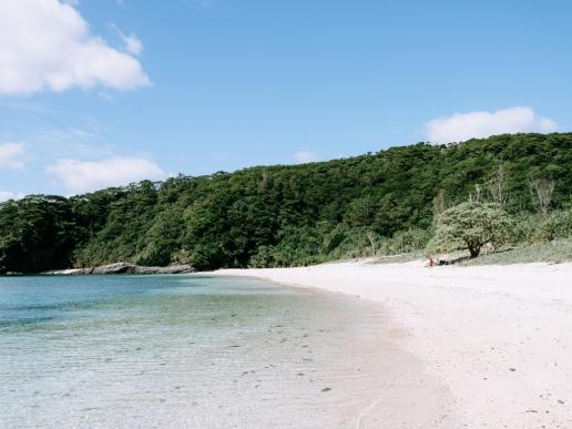 Secluded beach of Aka Island, Okinawa, Japan