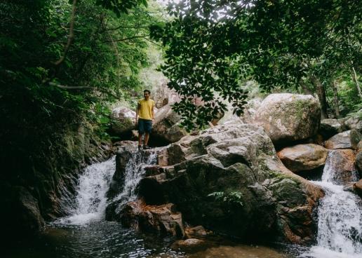 Jungle stream trekking, Ishigaki Island, Japan