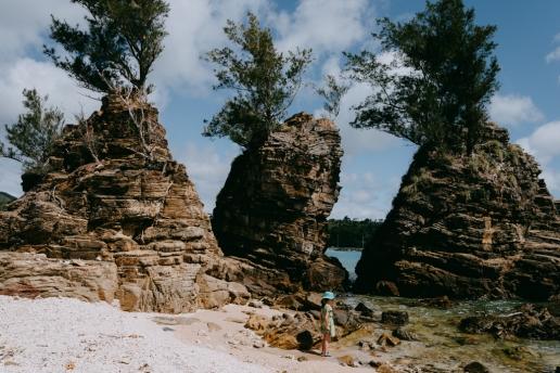 Secluded beach, Okinawa Main Island, Japan