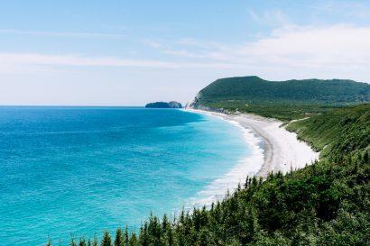 Scenic landscape of Tokyo's Surf Island, Niijima