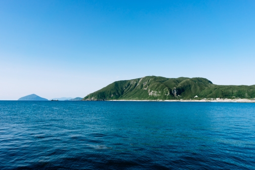 Niijima Island from the ferry port, Tokyo