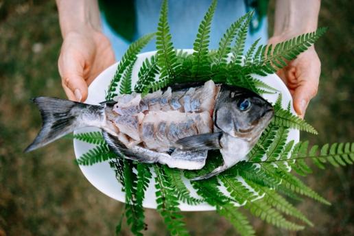 Japanese camping style sashimi of our catch, Niijima Island, Tokyo